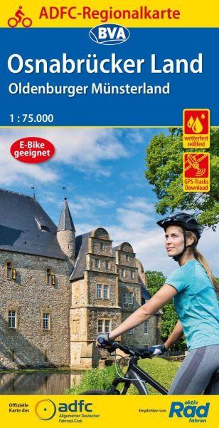 ADFC-Regionalkarte, Osnabrücker Land, Oldenburger Münsterland