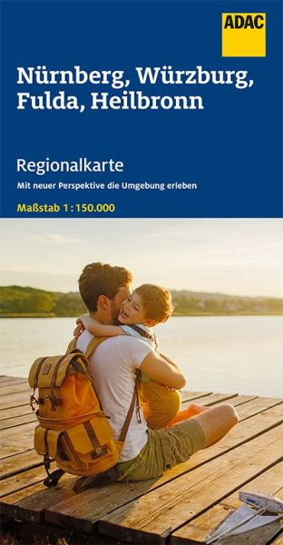 Bl. 12 Nürnberg, Würzburg, Fulda Regionalkarte 1:150.000, ADAC Straßenkarte