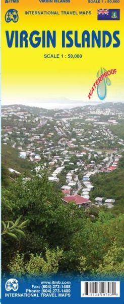 Virgin Islands Landkarte 1:50.000, ITM