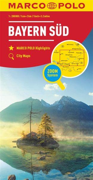 Bayern Süd Straßenkarte 1:200.000, Marco Polo Bl. 13