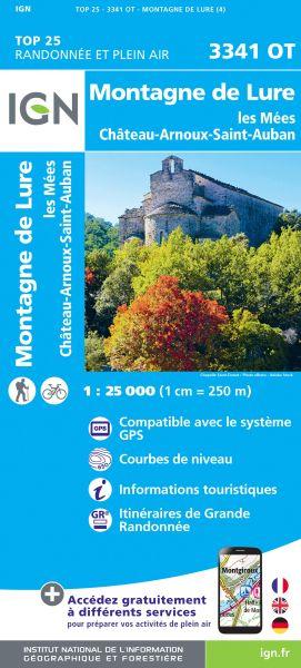 IGN 3341 OT Montagne de Lure, Lees, Frankreich Wanderkarte 1:25.000