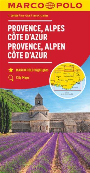 Provence / Côte d'Azur / Rhône-Alpes Straßenkarte 1:300.000, Marco Polo