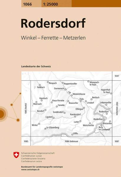 1066 Rodersdorf topographische Wanderkarte Schweiz 1:25.000