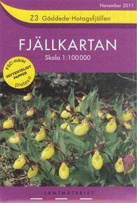 Fjällkartan Z3 Schweden Trekking- und Wintersportkarte 1:100.000