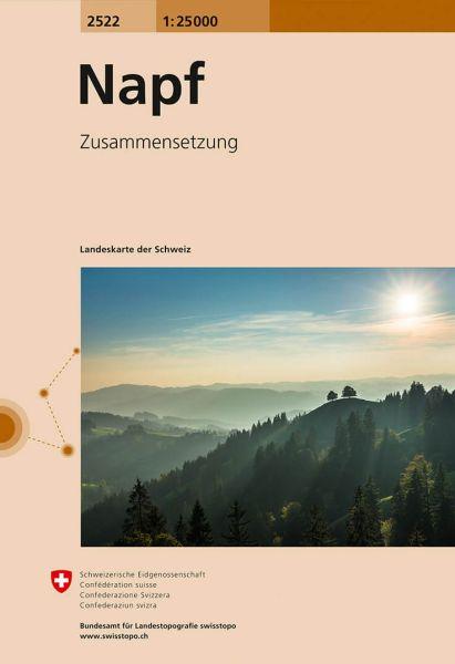 2522 Napf topographische Wanderkarte Schweiz 1:25.000