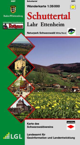 Schuttertal - Lahr - Ettenheim Wanderkarte 1:35.000 Schwarzwaldverein