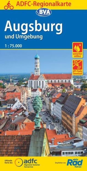 ADFC-Regionalkarte, Augsburg und Umgebung, Radwanderkarte