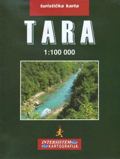 Tara-Schlucht Wanderkarte 1:100.000 Montenegro/Bosnien-Herzegowina; Intersistem Kartografija