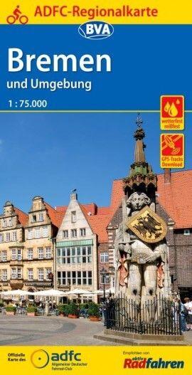 ADFC-Regionalkarte, Bremen und Umgebung, Radwanderkarte