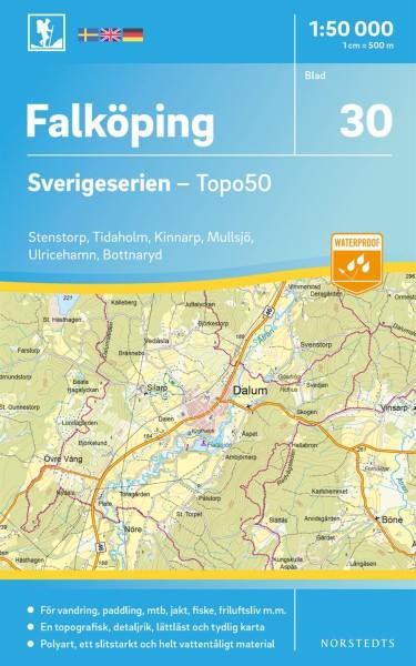 Falköping Wanderkarte 1:50.000, Schweden Topo50 Blatt 30