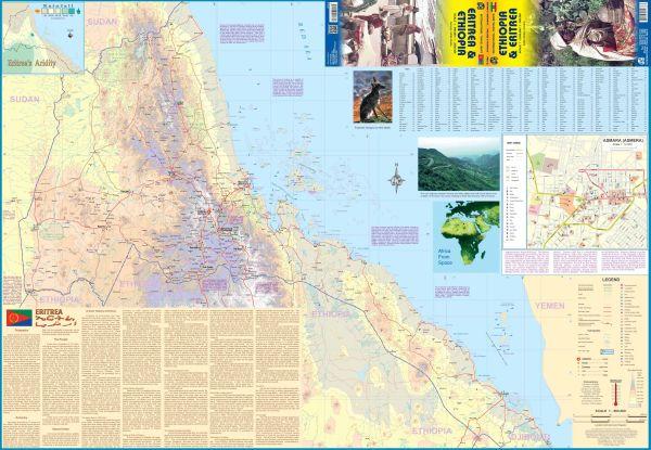 Äthiopien & Eritrea Landkarte, ITM, Ethiopia