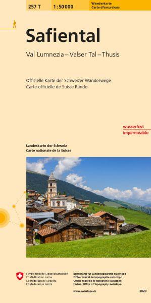 257 T Safiental Wanderkarte 1:50.000 - Swisstopo