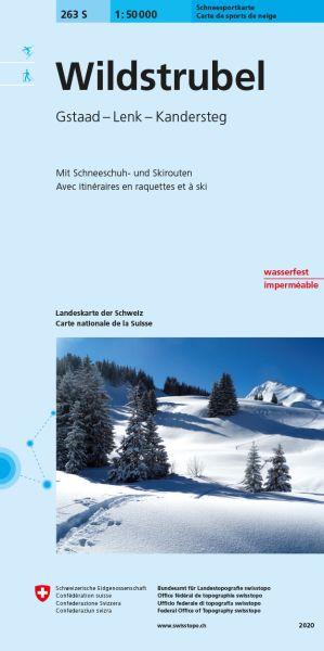 263 S Wildstrubel topographische Skitourenkarte 1:50.000