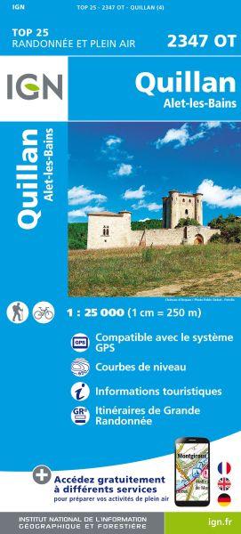 IGN 2347 OT Quillan / Alet-Les-Bains, Frankreich Wanderkarte 1:25.000
