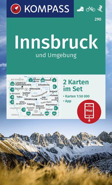 Kompass Karten Set 290, Innsbruck 1:50.000, Wandern, Rad fahren