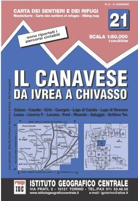 IGC 21 - Wanderkarte für Il Canavese da Ivrea a Chivasso 1:50.000