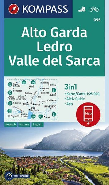 Berge Um Freiburg Karte.Kompass Karte 096 Alto Garda Ledro 1 25 000 Wandern Rad Fahren