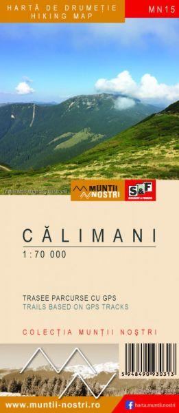 Calimani Wanderkarte 1:70.000; MN15