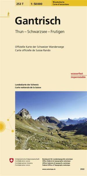 253 T Gantrisch Wanderkarte 1:50.000 wasserfest - Swisstopo