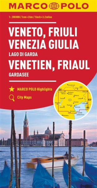Venetien Straßenkarte 1:200.000, Marco Polo Italien Blatt 4