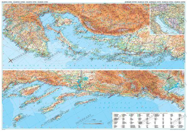 Landkarte Dalmatien Posterkarte 125 cm x 88 cm