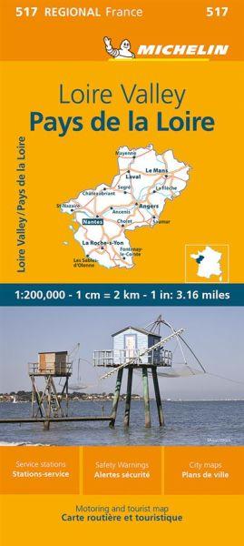 Michelin regional 517 Loire-Tal Straßenkarte 1:200.000