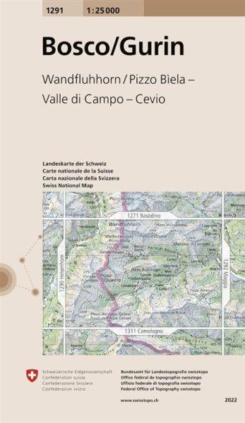 1291 Bosco / Gurin topographische Wanderkarte Schweiz 1:25.000