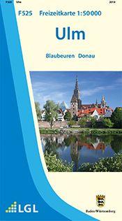 Ulm Freizeitkarte in 1:50.000 - F525 mit Rad- und Wanderwegen