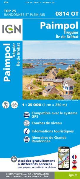 IGN 0814 OT Paimpol, Treguier, Ile de Brehat, Frankreich Wanderkarte 1:25.000