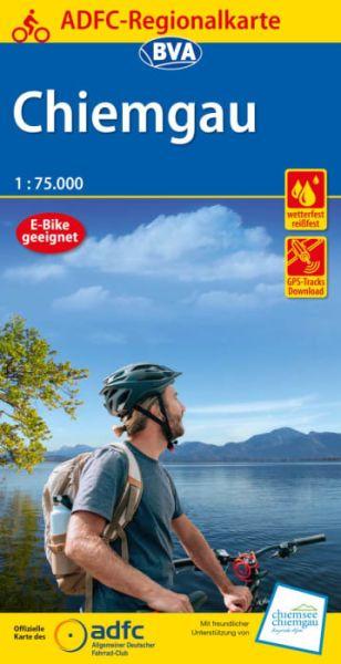 ADFC-Regionalkarte, Chiemgau, Radwanderkarte