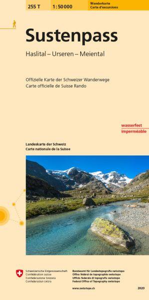 255 T Sustenpass Wanderkarte 1:50.000 - Swisstopo