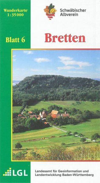 Bretten Wanderkarte 1:35.000 Schwäbischer Albverein