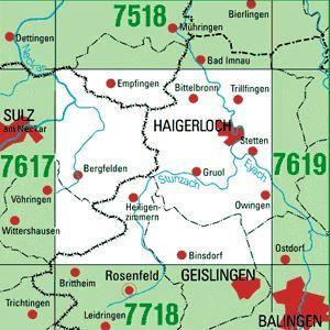7618 HAIGERLOCH topographische Karte 1:25.000 Baden-Württemberg, TK25