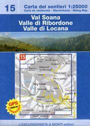Val Soana, Valle di Ribordone, Wanderkarte 1:25.000 L'Escursionista Bl.15