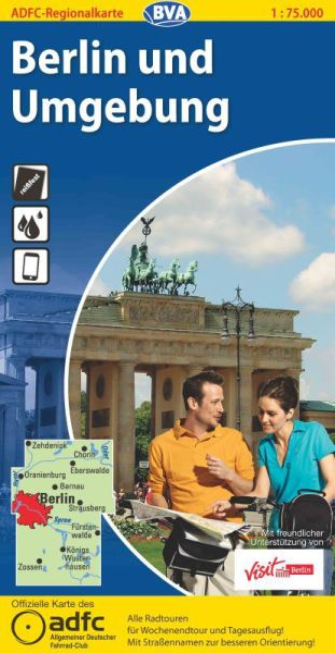 ADFC-Regionalkarte, Berlin und Umgebung, Radwanderkarte