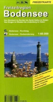 Freizeitkarte für den Bodensee in 1:60.000, Wandern, Rad