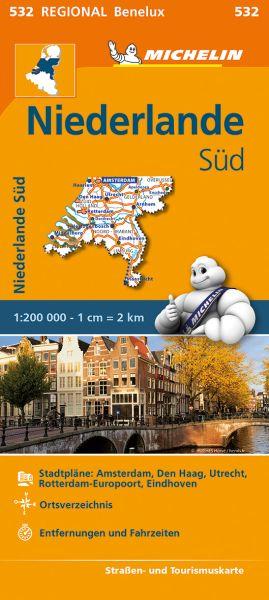 Michelin 532 Niederlande Süd Straßenkarte