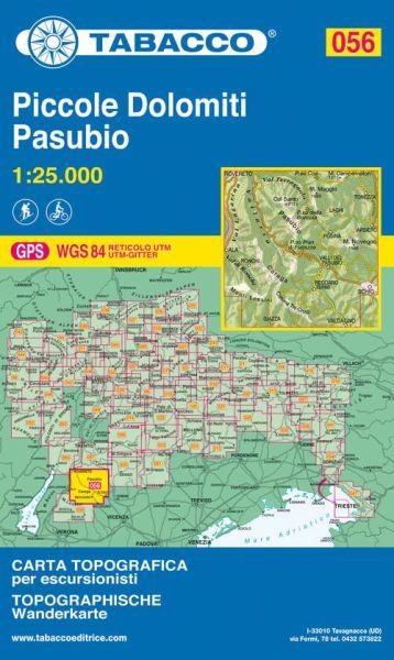 Tabacco 056 Piccole Dolomiti, Pasubio, Trentino Wanderkarte 1:25.000