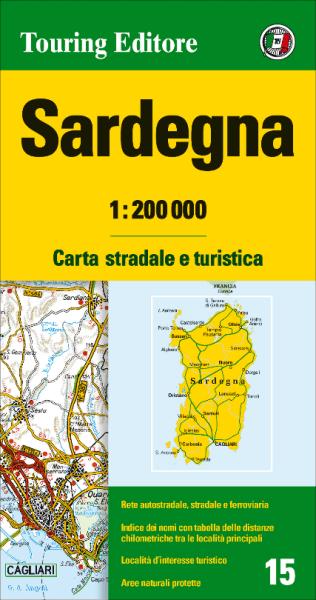 Sardinien Straßenkarte 1:200.000, TCI 15; Sardegna