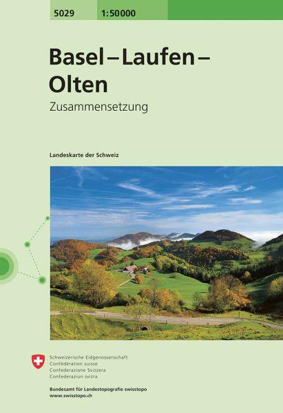 5029 Basel - Laufen - Olten topographische Wanderkarte Schweiz 1:50.000