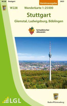 Stuttgart W228, Wanderkarte 1:25.000, Schwäbischer Albverein