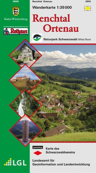 Renchtal - Ortenau Wanderkarte 1:35.000 Schwarzwaldverein