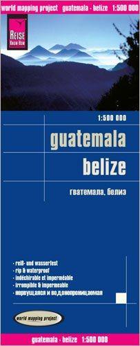 Guatemala, Belize Landkarte 1:500.000, Reise Know-How