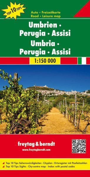 Umbrien - Perugia - Assisi Straßenkarte 1:150.000, Freytag und Berndt