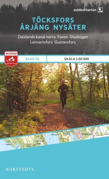 Töcksfors - Årjäng - Nysäter, Outdoorkartan Blatt 16, Schweden Wanderkarte 1:50.000