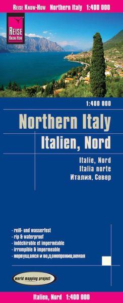 Italien Nord, Landkarte 1:400.000, Reise know-How
