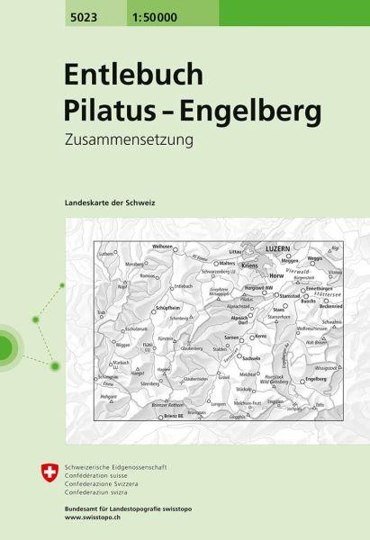 5023 Entlebuch - Pilatus - Engelberg topographische Wanderkarte Schweiz 1:50.000