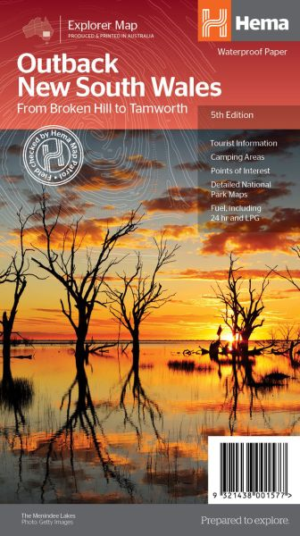 HEMA Regional Map Outback New South Wales 1:1.250.000