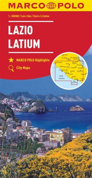 Latium Straßenkarte 1:200.000, Marco Polo Italien Blatt 9