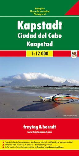 Kapstadt, Stadtplan 1:12.000, Freytag und Berndt